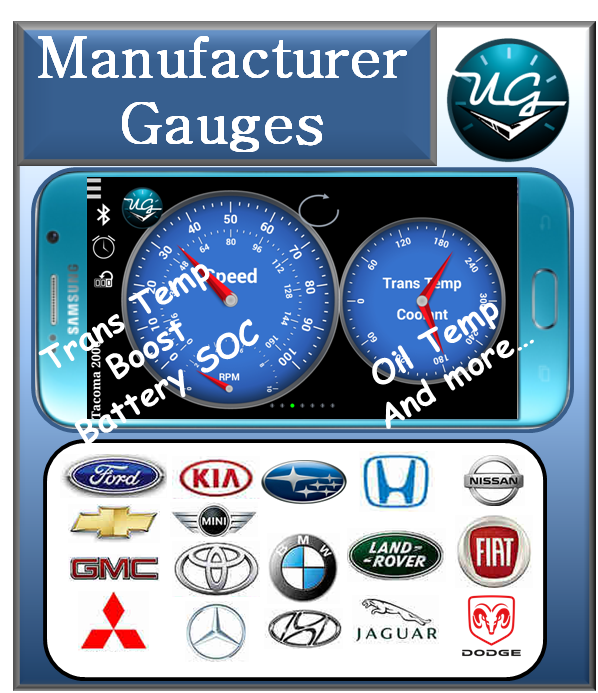 Button to OBDII Manufacturer Gauges